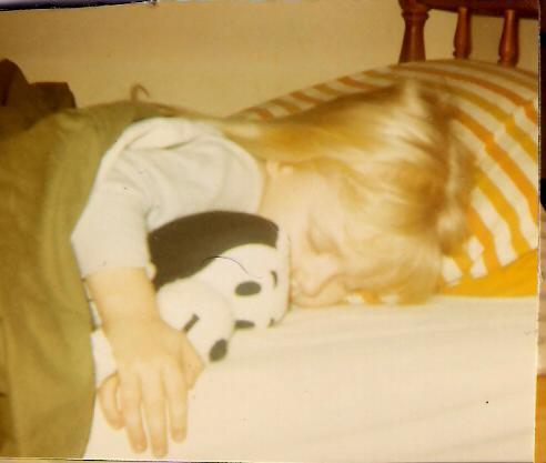 3-yr old me and my fav toy, snoopy